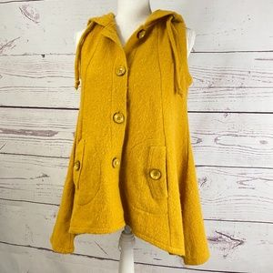 FOR CYNTHIA  Boiled Wool Hooded Vest Cape